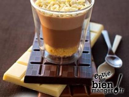 Recette de tiramisu aux 3 chocolats proposée par Envie de bien manger